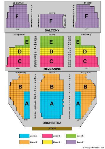 New Amsterdam Theatre Seating