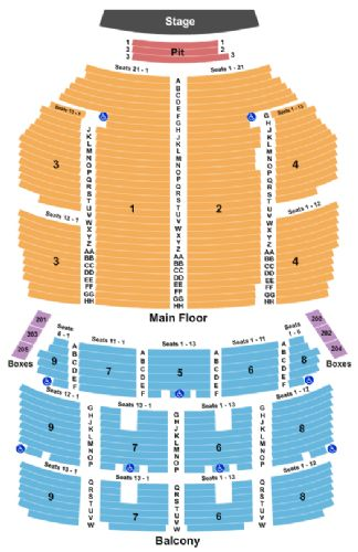 Orpheum Theater Sf Seating Chart