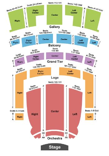 Tickets And Orpheum Theatre Seating