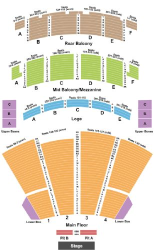 Palace Theatre Columbus Tickets And Palace Theatre Columbus Seating