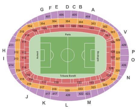 Parc Des Princes Tickets And Parc Des Princes Seating Chart Buy Parc Des Princes Paris Tickets Vp At Stub Com