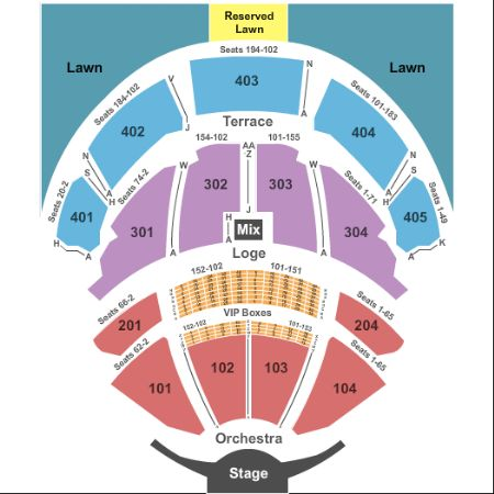 Pnc Bank Arts Center Tickets And Pnc Bank Arts Center Seating Chart