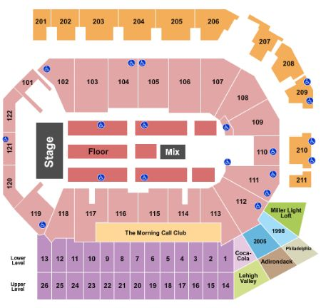 Ppl center tickets and ppl center seating chart buy ppl center