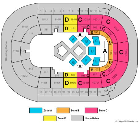 Prospera place tickets and prospera place seating chart buy