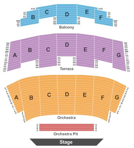 Rabobank theater tickets and rabobank theater seating chart buy