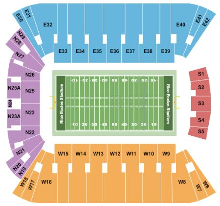 Rice Eccles Stadium Map Rice Eccles Stadium Tickets and Rice Eccles Stadium Seating Chart