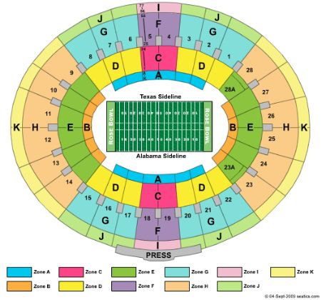 Rose bowl tickets and rose bowl seating chart buy rose bowl