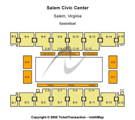 Salem Civic Center Tickets And Salem Civic Center Seating
