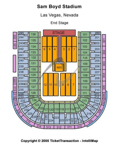 Sam boyd stadium tickets and sam boyd stadium seating chart buy