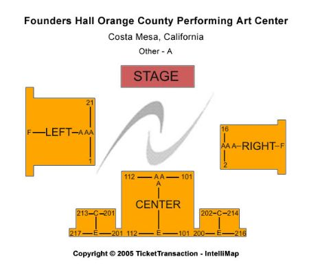 Segerstrom Center For The Arts Founders Hall Tickets And