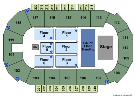 Showare center seating chart showare center seating charts