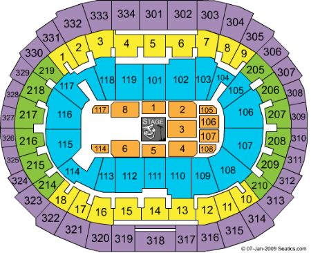 Staples Center Seating Chart Concert End Stage Staples