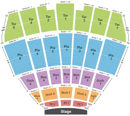 Starlight theatre tickets and starlight theatre seating chart