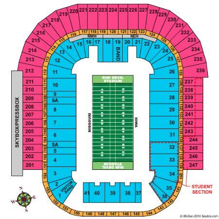 Sun devil stadium tickets and sun devil stadium seating chart buy