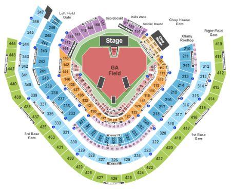 Atlanta Suntrust Park Seating Chart