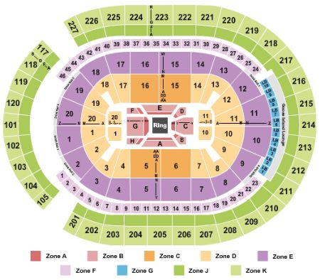 T-Mobile Arena Tickets and T-Mobile Arena Seating Chart