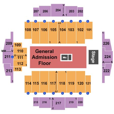 Tickets And Tacoma Dome Seating Chart