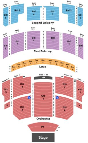 Taft Theatre Tickets And Taft Theatre Seating Chart Buy
