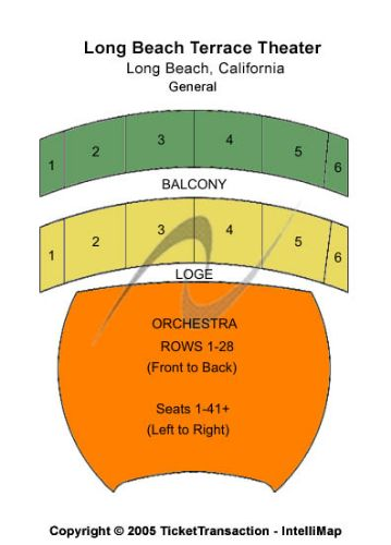Terrace Theater Convention Center Tickets And Clical Series Seating Chart
