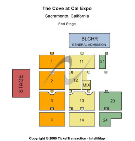 The Cove At Cal Expo Tickets and The Cove At Cal Expo Seating Chart Cal Expo Map on