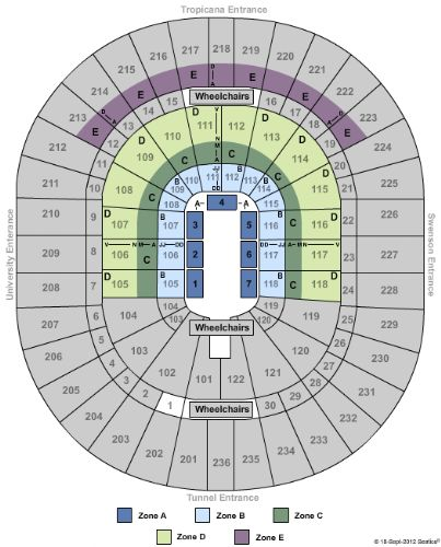 thomas and mack center seating chart for wwe: Thomas mack center tickets and thomas mack center seating