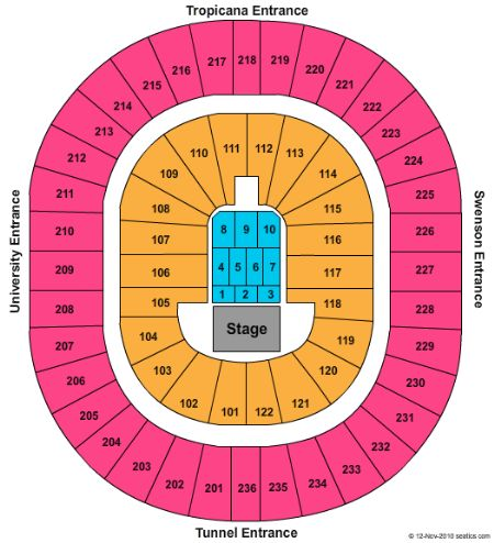 Thomas and mack center seating chart heart impulsar co