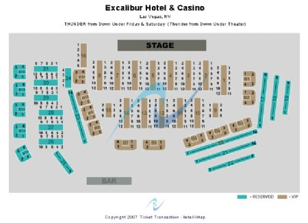 Thunder From Down Under Theatre Excalibur Hotel Casino Tickets