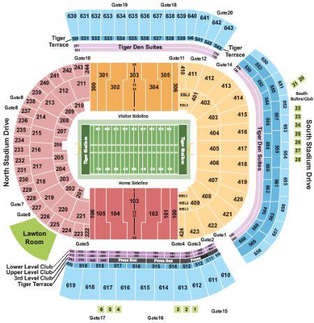Tiger stadium tickets and tiger stadium seating chart buy tiger