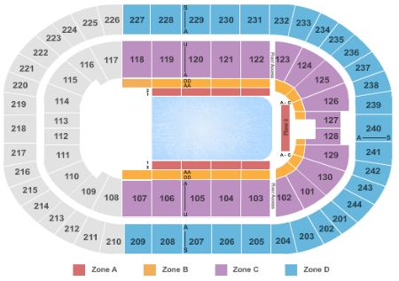 Times Union Center Seating Chart Circus