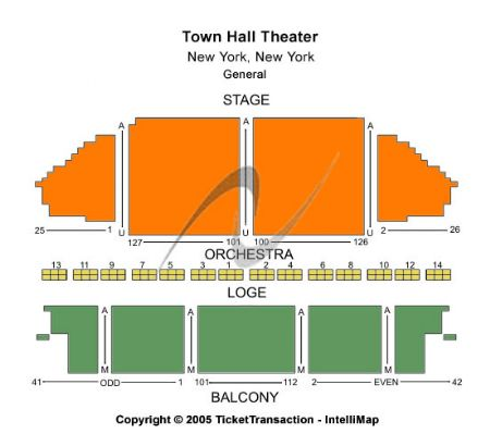 Town hall theatre tickets and town hall theatre seating chart buy