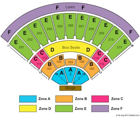 Toyota amphitheatre tickets and toyota amphitheatre seating chart
