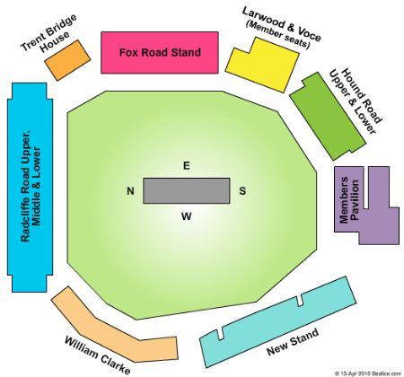 Trent Bridge Tickets And Trent Bridge Seating Chart Buy