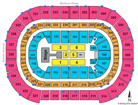 United center tickets and united center seating chart buy united