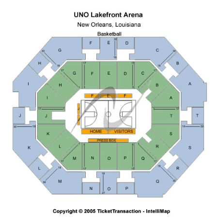Uno Lakefront Arena Tickets And Uno Lakefront Arena
