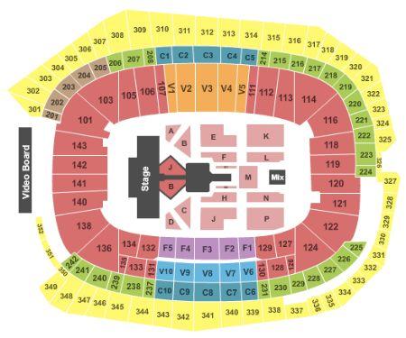US Bank Stadium Tickets And US Bank Stadium Seating Chart Buy US - Map of us bank stadium