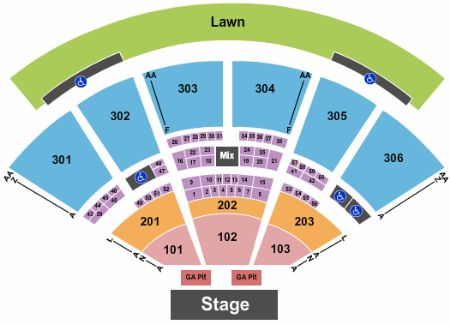 Usana amphitheatre tickets and usana amphitheatre seating chart