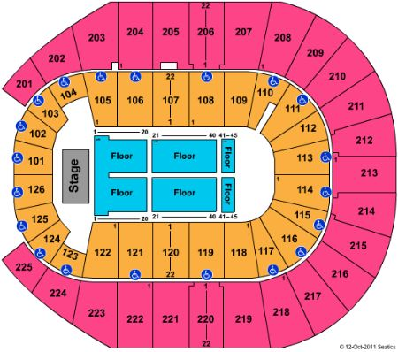 Verizon arena tickets and verizon arena seating chart buy