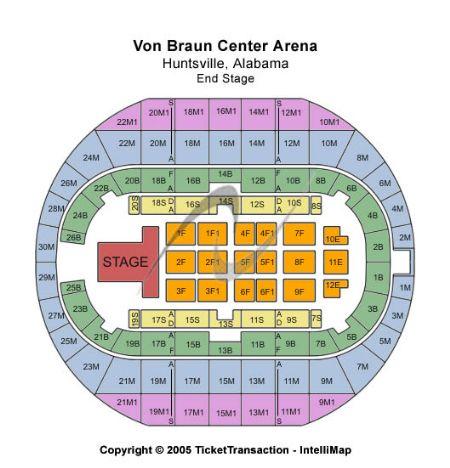 Von braun center arena tickets and von braun center arena seating