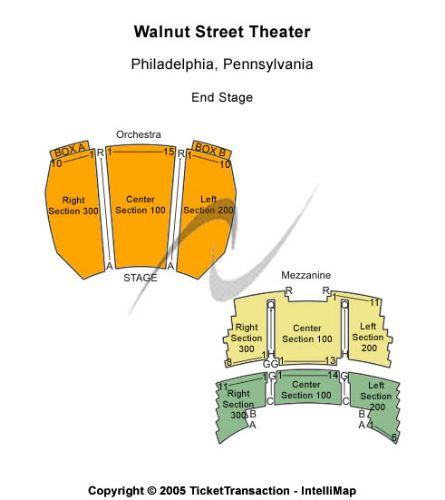 Walnut Street Theatre Seating Chart Philadelphia Pa