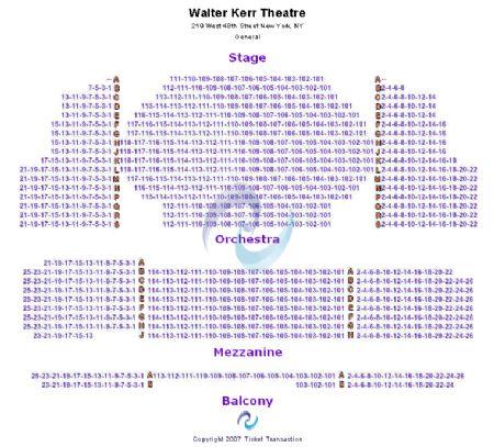 Walter Kerr Theatre Seating Charts