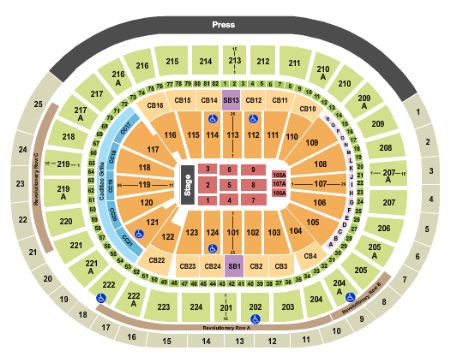 Wells fargo center tickets and wells fargo center seating chart