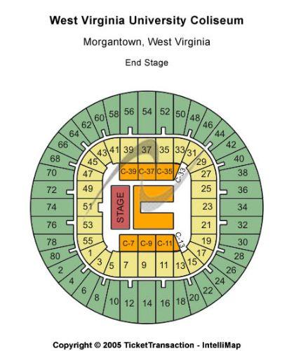 West virginia university coliseum tickets and west virginia