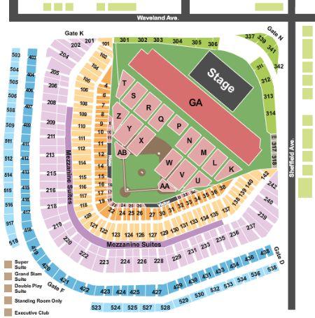 Wrigley field tickets and wrigley field seating chart buy wrigley