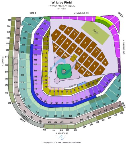 Wrigley field tickets and wrigley field seating chart buy wrigley