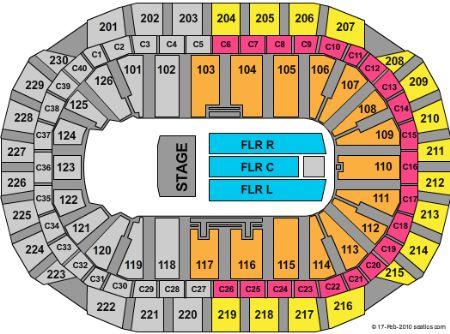 Xcel Energy Concert Seat Map | Elcho Table