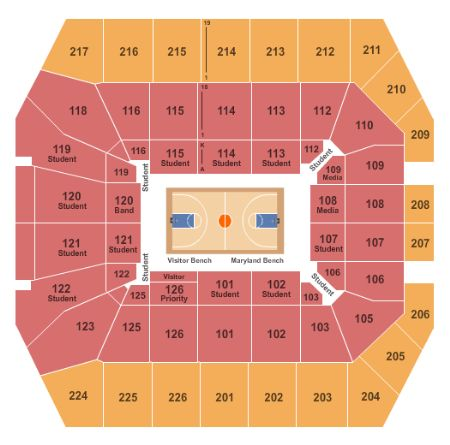 Xfinity Center Tickets and Xfinity Center Seating Chart - Buy ... on